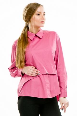 Рубашка для беременных 08922 малиновый