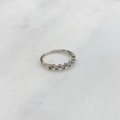 Кольцо на фалангу Зигзаг с цирконами (серебристый)