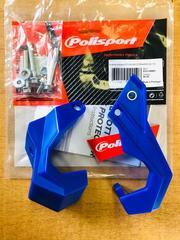 Защита вилки нижняя YAMAHA YZ125/250 YZ250/450F(08-18) синяя POLISPORT