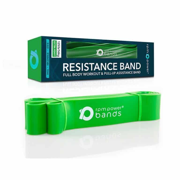 Лента сопротивления Powerball Зеленая 50 кг Extra Strong (Фитнес резинка)