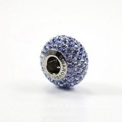 80101 Бусина Сваровски BeCharmed Pave Light Sapphire 14х9 мм