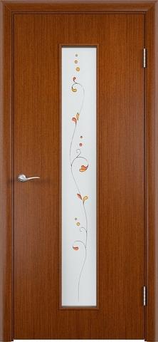 Дверь Верда С-21, стекло Сатинато (Амелия), цвет макоре, остекленная
