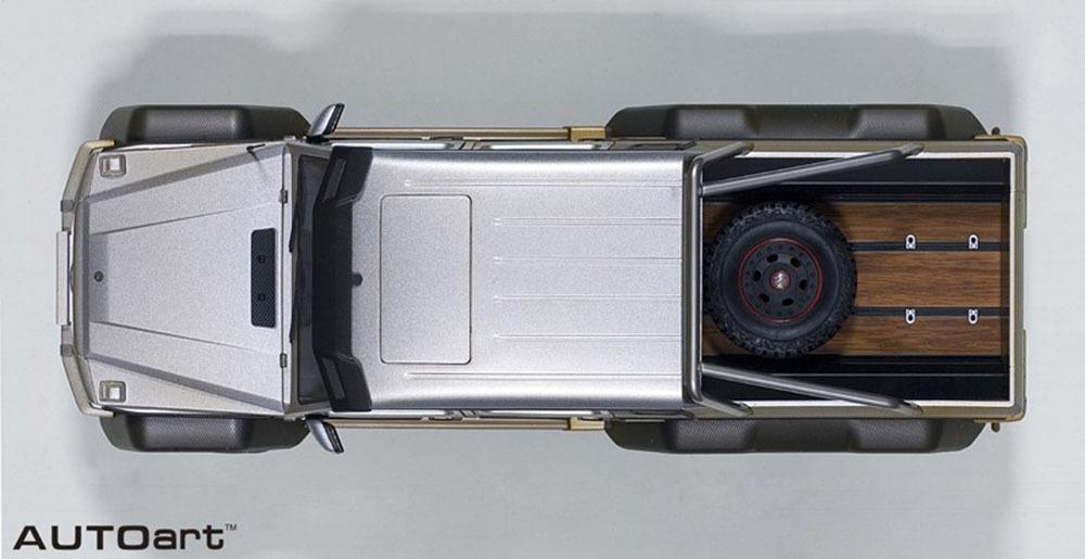 Коллекционная модель Mercedes-Benz Gelandewagen W463 G63 AMG 6X6 Silver Muddy Version 2013