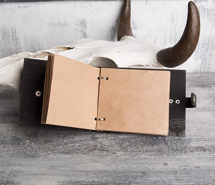 BC127-1 Деревянный блокнот с крафт блоком, ручная работа фото 06