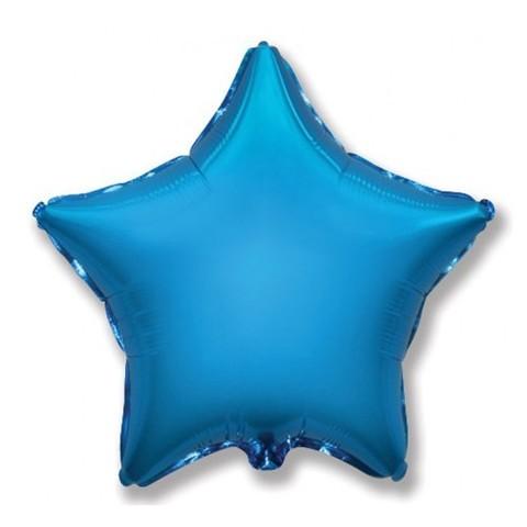 Звезда из фольги синяя (46 см)