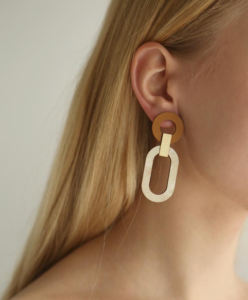 Серьги Lora II Earrings Mother of Pearl