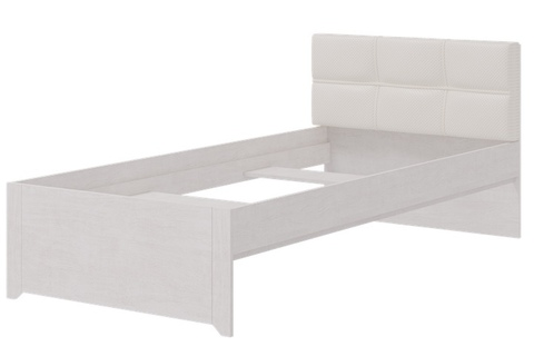 Кровать одинарная Твист 4 с мягким изголовьем Ижмебель 90х200 молокай