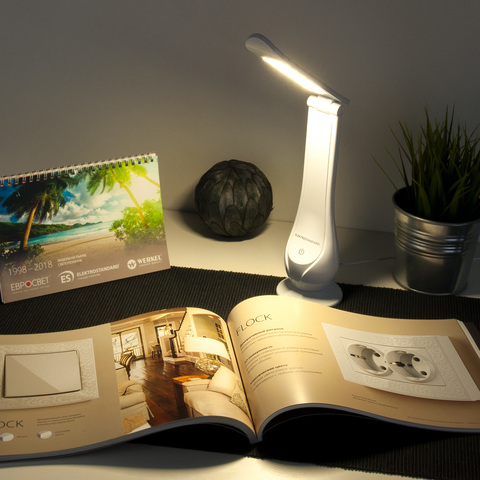 Настольный светодиодный светильник Orbit белый TL90420