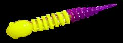 Силиконовые приманки Trout Bait Chub 65 (65 мм, цвет: Лимонно-фиолетовый, запах: чеснок, банка 12 шт.)