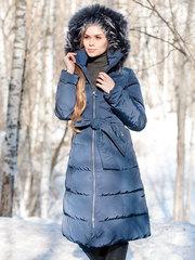Joutsen пуховик Sissy с мехом темно-синий