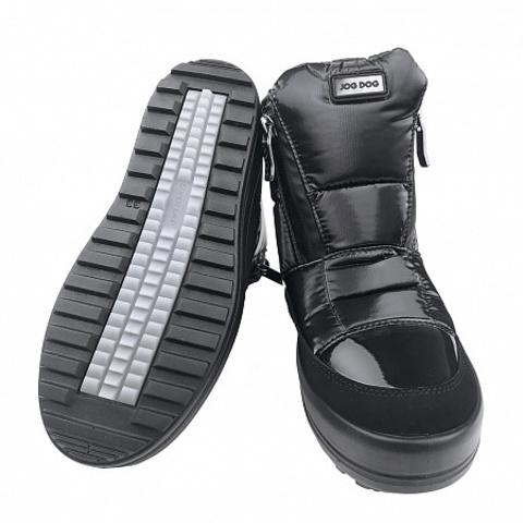 Jog Dog зимние ботинки Bomber Turbo (черный флеш) для девочки