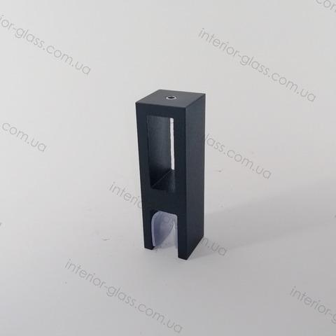 Соединитель труба-стекло ST-310 BLK чёрный матовый