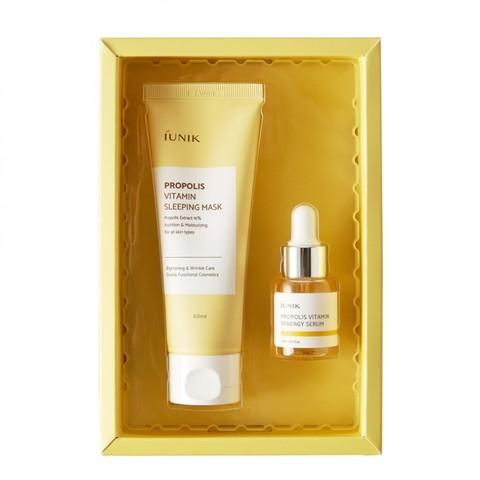 IUNIK Propolis Edition Skincare Set Витаминный набор с прополисом сыворотка и ночная маска