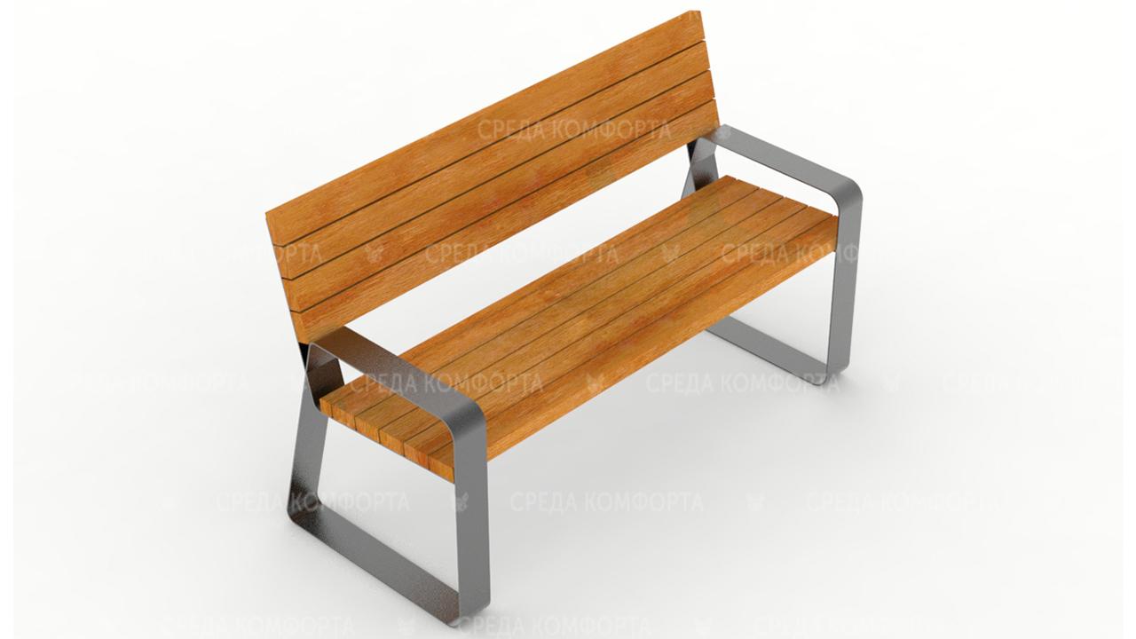 Скамейка со спинкой SCAM0083