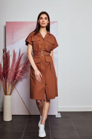 CAPPELLINI Платье хлопковое в стиле сафари