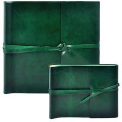 Фотоальбом из кожи зеленый
