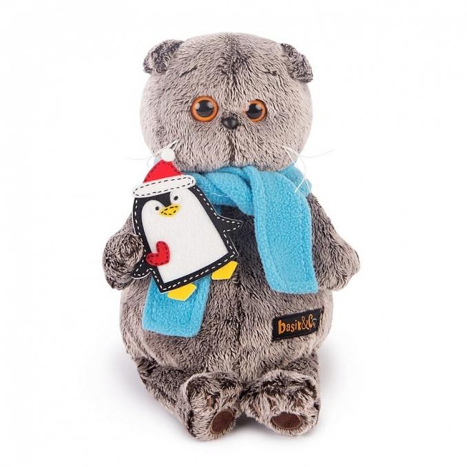 Кот Басик в шарфике и с пингвином