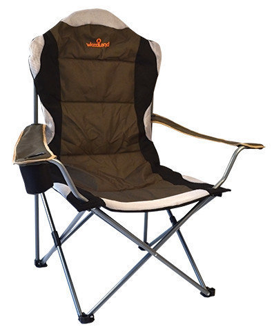 Кресло кемпинговое скл. с кармашком для мелочей Woodland Deluxe 63х63х110 см. до 120 г CK-009
