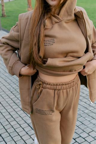 Спортивный костюм-тройка коричневый интернет магазин