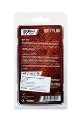 Черная анальная втулка Black Red - 10 см.