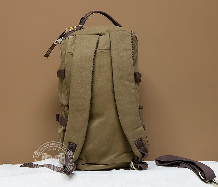 BAG368-2 Стильная и вместительная сумка рюкзак с ремнем на плечо фото 04