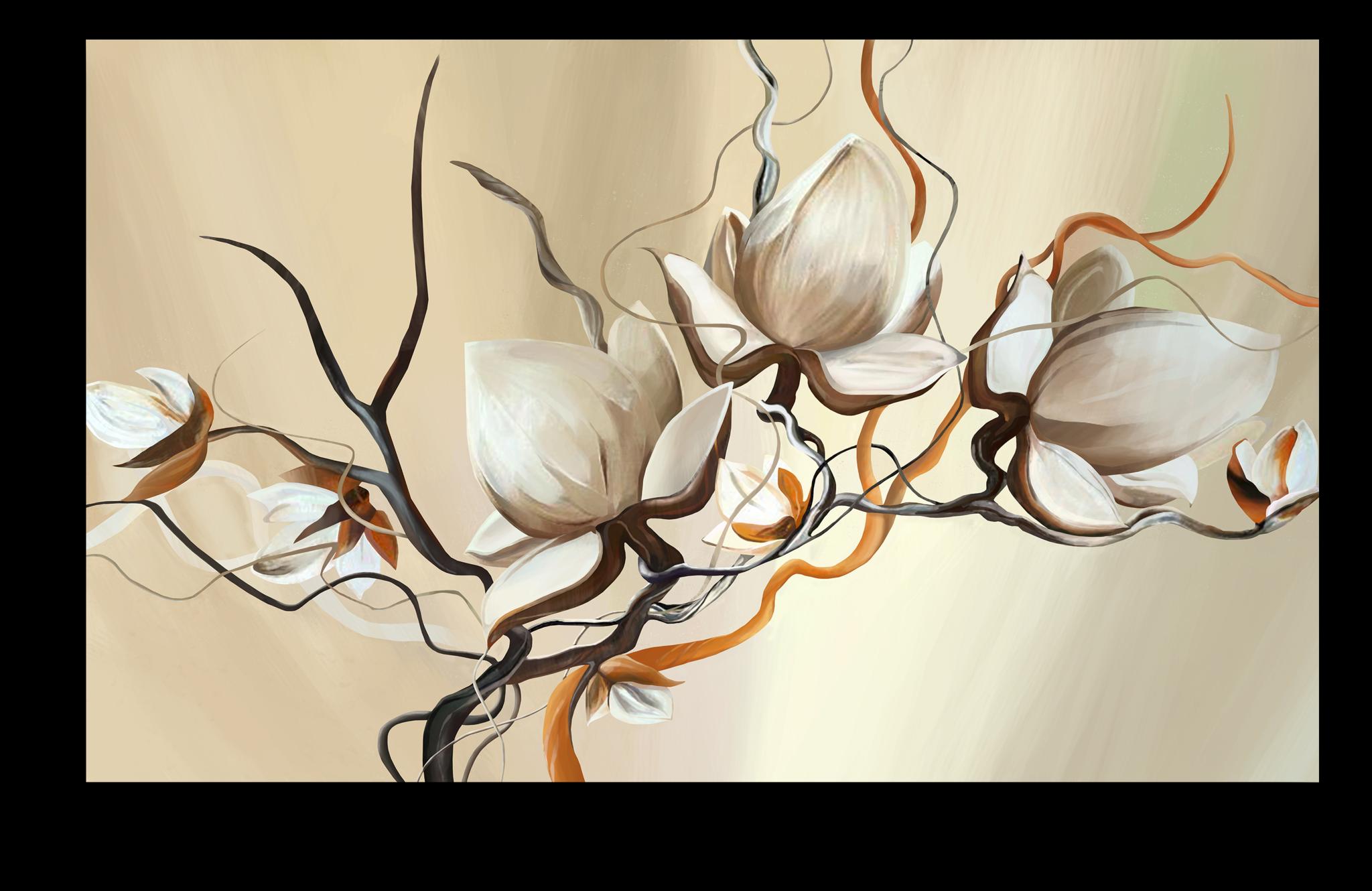 """Постеры Постер """"Кремовые цветы"""" п31.png"""