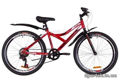 Підлітковий велосипед Discovery Flint - червоно-біло-чорний