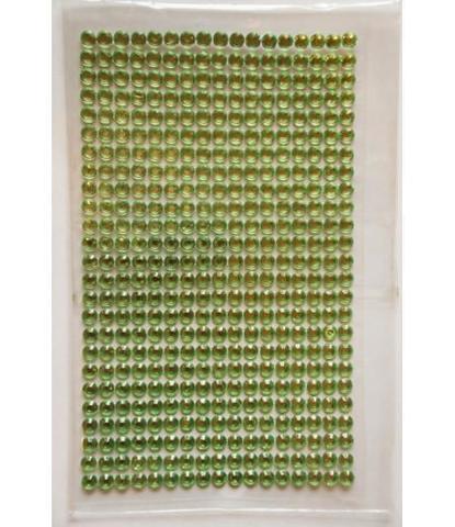 Стразы салатовые 5 мм длинные