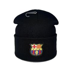 Вязаная шапка с логотипом ФК Барселона (FC BARCELONA) черная