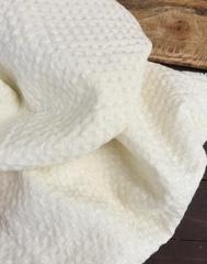 Вафельная ткань крэш, Сливочные вафли
