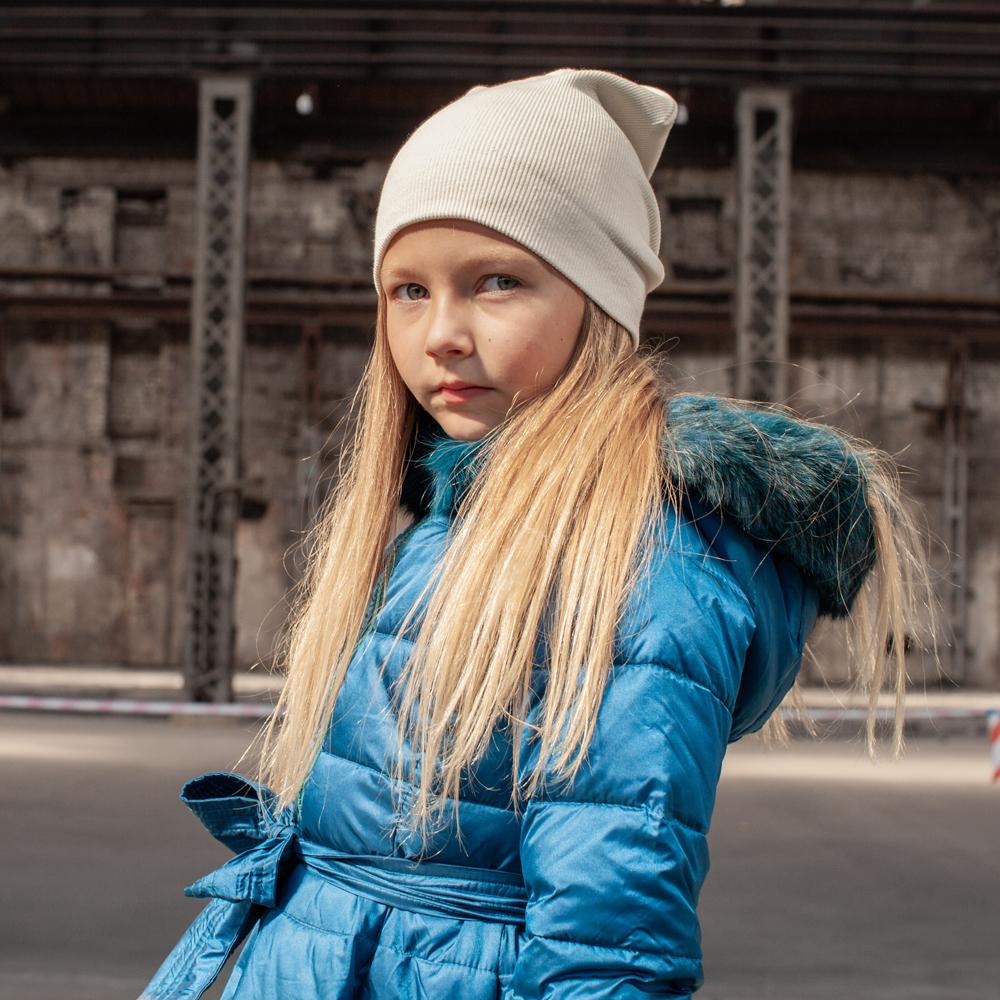 Підліткове демісезонне пальто синього кольору з водовідштовхувальної плащової тканини