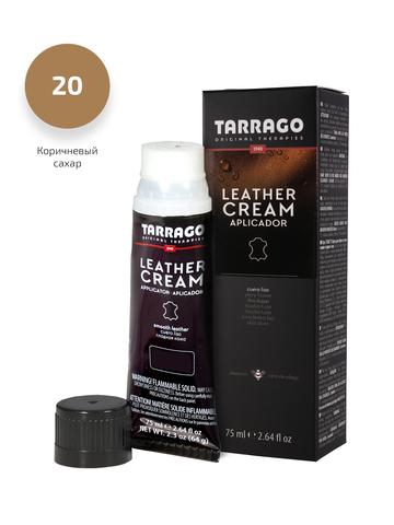 Крем для обуви из гладкой кожи, тюбик с губкой Tarrago  Leather cream, 75мл. (24 цвета)