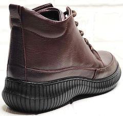 Высокие кеды женские ботинки на осень Evromoda 535-2010 S.A. Dark Brown.