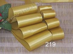 Лента атласная шириной 5см желтая - 219