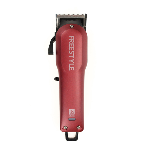 Машинка для стрижки Dewal Freestyle, аккум/сетевая, 6 насадок, красная