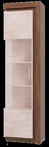 Шкаф-витрина Люмен 05 Ижмебель лагос/камень светлый