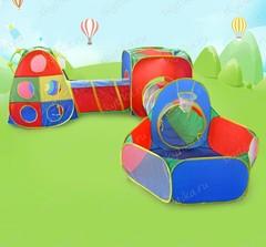 Палатка+туннель+бассейн, 5 в 1