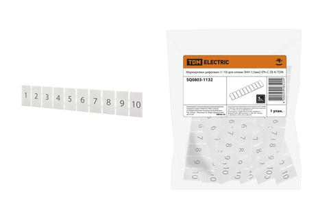 Маркировка цифровая (1-10) для клемм ЗНН-1,5мм2 (Ph-C ZB 4) TDM