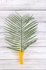 Искусственное растение - Ветка Пальмы, 42 см, 1 шт.