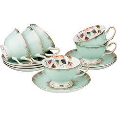 Чайный набор из фарфора на 6 персон 275-896