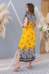 Платье длинное желтое