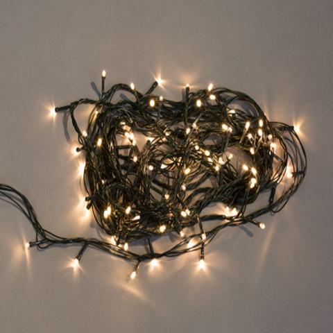 Электрогирлянда 100 белых LED огней