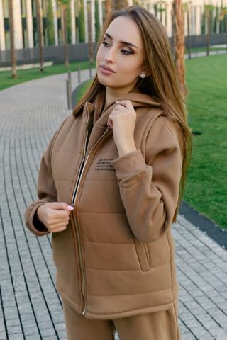 Спортивный костюм-тройка коричневый Nadya