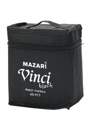 Mazari Vinci Black набор маркеров для скетчинга 60 шт двусторонние спиртовые пуля/долото 1.0-6.2 мм