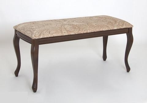 Банкетка Дионис деревянная с мягким сидением темный орех