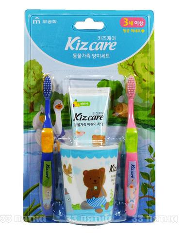 Детский зубной набор для гигиены полости рта Mukunghwa Kizcare со вкусом клубники для детей с 3х лет