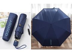 Женский облегченный зонт, с защитой от УФ, 8 спиц однотонный (темно-синий)