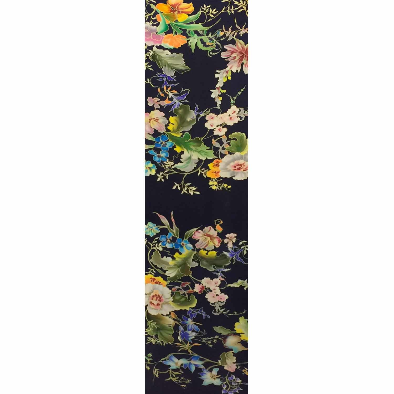 Шелковый шарф батик Цветочная фантазия