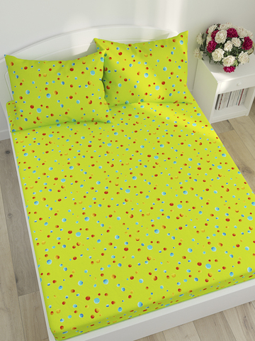 Простынь на резинке  -Акварель- натяжная 160х200х26 см 2-спальная