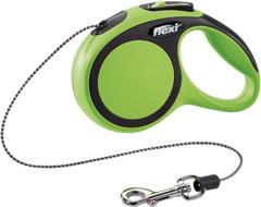 Поводок-рулетка Flexi New Comfort XS (до 8 кг) трос 3 м черный/зеленый